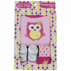 3 delig Geboorte box van Tom & Kiddy roze
